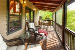 Enjoy a meal or a good book on the screened-in porch