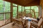 Great screened-in porch for relaxing and watching wildlife