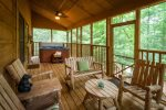 Firepit with seating, picnic table, Gas BBQ and Charcoal Grill