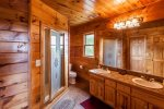 Master Bath with walk-in tiled shower