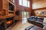 Great Room with wood burning fireplave