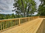 Huge deck for star gazing, relaxing and admiring views