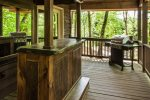 Custom bar on porch