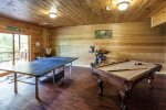 Game room with Pool Table & Table Tennis