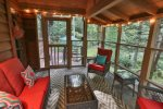 Cozy screened porch