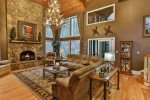 Stunning Great Room with wood burning fireplace