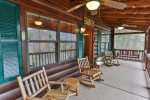 Large screened in porch with views