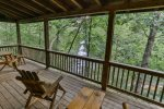 Spacious Covered Porch overlooking River