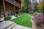 Beautifully landscaped yard