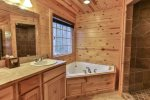 King Master Bath with jetted tub
