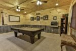 Game room with pool table & 42