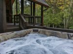 Large luxurious hot tub