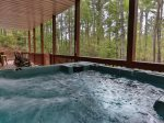 large luxury hot tub