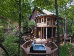 Secluded Mountain Falls, Private Setting, Creek w/waterfalls