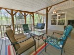 Awesome screened porch with TV
