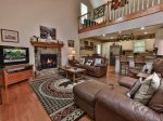 Open Floor plan, Gas fireplace