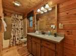 Full master bath with tub/shower combo main level