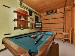 Pool Table Game Room with bar