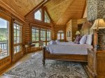 Honeymoon Suite balcony overlooking lake