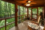 Screened-in Porch overlooking creek
