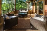 Screened-in porch overlooking private lake