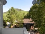 Mountain views from the deck of your Loon vacation rental