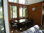 Enjoy meals together with the family in this roomy condo next to Loon Mountain