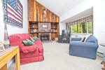 Bright Living Room in Waterville Estates Vacation Rental Home