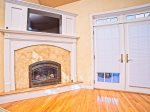 Fireplace in spacious master bedroom Waterville Valley Vacation Home