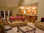 Comfortable Open Area Seating, Luxury Home Rental, White Mountains NH