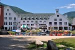 Waterville Valley Town Square with Sandy Beach and Boat Rentals