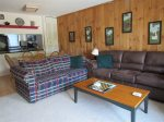 Dining and living area in Waterville Valley Vacation Condo