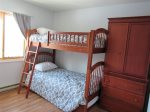 Second Bedroom Bunk with Trundle Waterville Estates Condo