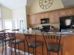 Kitchen and Bar in Owls Nest Resort Vacation Rental