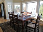 Natural Light Filled Dining Area in Owls Nest Resort Vacation Rental