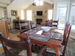 Open Concept Dining Table in Owls Nest Resort Vacation Rental