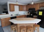 Fully equipped Kitchen and Island in Waterville Valley Vacation Rental
