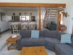 Living room and dining at Waterville Valley Vacation Condo