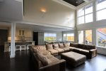 Open Living Room with Large Sectional in Coolidge Falls Vacation Rental