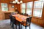 Dining Area at Private White Mountains Home