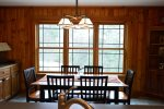 Dining Area View at Private White Mountains Home