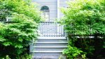 Back Steps to porch and path that leads around to drive way at Waterville Valley Private Vacation Home