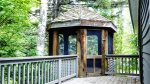 Gazebo on back porch at Waterville Valley Private Vacation Home