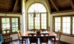 Panoramic views of property exterior in dinning room at Waterville Valley Private Vacation Home