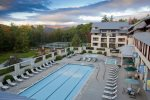 Outdoor Pool at Pollard Brook resort in Lincoln NH across from Loon Mountain