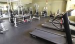 Workout room at Pollard Brook resort in Lincoln NH across from Loon Mountain
