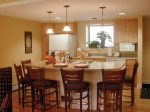 Dinning room and Kitchen in Pollard Brook Resort in Lincoln NH