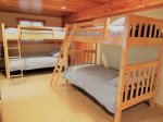 Basement Double Bunk Beds in Stand Alone three floor home in the Waterville Estates