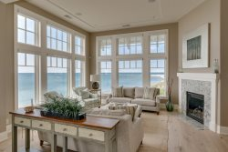 Luxury Beach House Overlooking South Beach w/Lakefront Hot Tub, Private Beach & Outdoor Kitchen