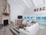 Beautiful living area with large windows that offer gorgeous panoramic views